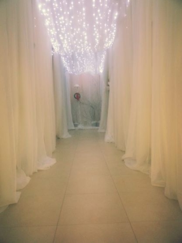 corridor winter wonderland drape