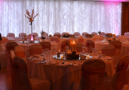 romantic pink and fairylight room styling