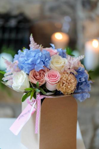 bride-bouquet-blue-pink-hydrangea