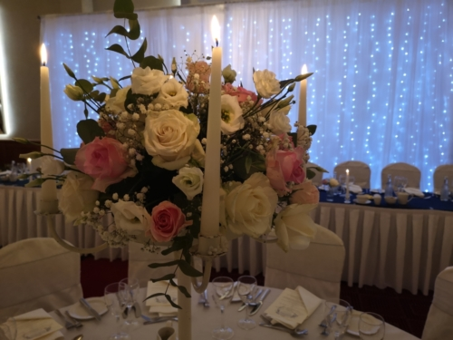 fresh flower table centre wedding