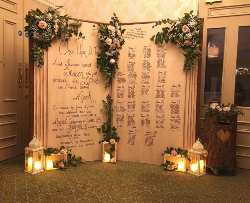 giant fairytale wedding seating plan book